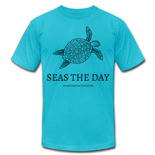 Load image into Gallery viewer, Seas The Day Unisex T-Shirt - turquoise