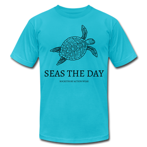Seas The Day Unisex T-Shirt - turquoise