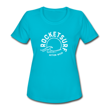 Load image into Gallery viewer, Women's Moisture Wicking Performance T-Shirt - turquoise