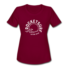 Load image into Gallery viewer, Women's Moisture Wicking Performance T-Shirt - burgundy