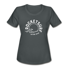 Load image into Gallery viewer, Women's Moisture Wicking Performance T-Shirt - charcoal
