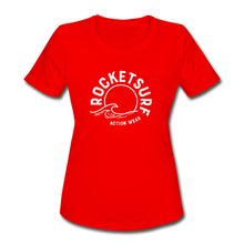 Load image into Gallery viewer, Women's Moisture Wicking Performance T-Shirt - red