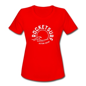 Women's Moisture Wicking Performance T-Shirt - red