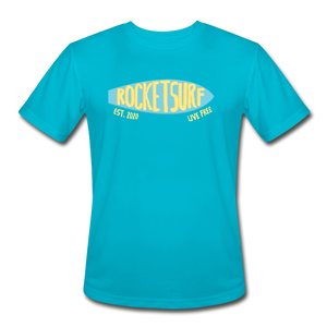 Men's Moisture Wicking Performance Skate T-Shirt - turquoise