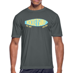 Men's Moisture Wicking Performance Skate T-Shirt - charcoal