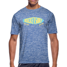 Carica l'immagine nel visualizzatore di Gallery, Men's Moisture Wicking Performance Skate T-Shirt - heather blue