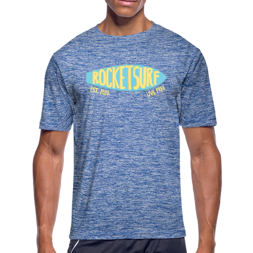 Men's Moisture Wicking Performance Skate T-Shirt - heather blue