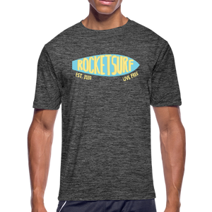 Men's Moisture Wicking Performance Skate T-Shirt - dark heather gray