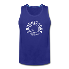 Load image into Gallery viewer, Men's Premium Tank - Wave Logo - royal blue