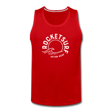 Load image into Gallery viewer, Men's Premium Tank - Wave Logo - red
