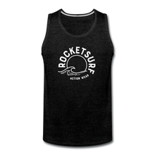 Load image into Gallery viewer, Men's Premium Tank - Wave Logo - charcoal gray