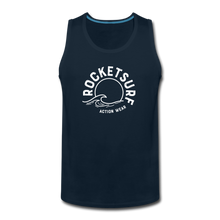 Load image into Gallery viewer, Men's Premium Tank - Wave Logo - deep navy