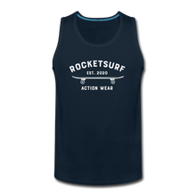 Load image into Gallery viewer, Men's Premium Tank - Skate - deep navy