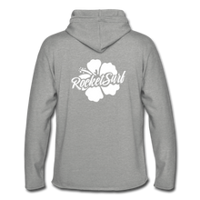 Load image into Gallery viewer, Unisex Lightweight Terry Hoodie - White Flower - heather gray