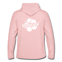 Load image into Gallery viewer, Unisex Lightweight Terry Hoodie - White Flower - cream heather pink