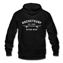 Load image into Gallery viewer, Unisex Fleece Zip Hoodie - Skate Club - black
