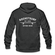 Load image into Gallery viewer, Unisex Fleece Zip Hoodie - Skate Club - charcoal gray