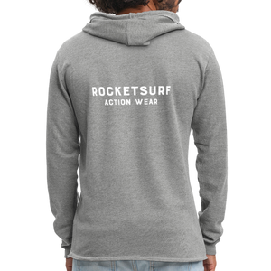 Unisex Lightweight Terry Hoodie - RocketSurf Logo - heather gray