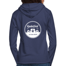 Load image into Gallery viewer, Unisex Lightweight Terry Hoodie - Round Flowers - heather navy
