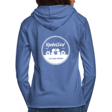 Load image into Gallery viewer, Unisex Lightweight Terry Hoodie - Round Flowers - heather Blue