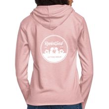 Load image into Gallery viewer, Unisex Lightweight Terry Hoodie - Round Flowers - cream heather pink