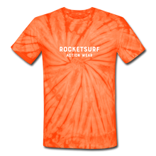 Load image into Gallery viewer, Unisex Tie Dye T-Shirt - RocketSurf Logo - spider orange