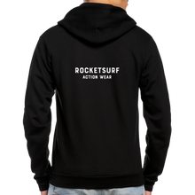 Load image into Gallery viewer, Unisex Fleece Zip Hoodie - RocketSurf Logo - black