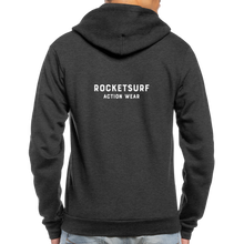 Load image into Gallery viewer, Unisex Fleece Zip Hoodie - RocketSurf Logo - charcoal gray