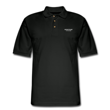 Load image into Gallery viewer, Men's Pique Polo Shirt - RocketSurf Logo - black