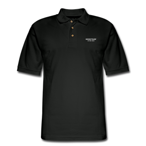 Men's Pique Polo Shirt - RocketSurf Logo - black