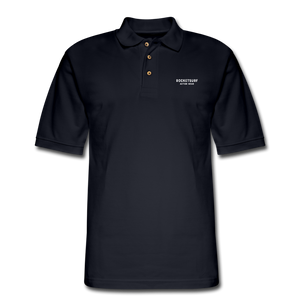 Men's Pique Polo Shirt - RocketSurf Logo - midnight navy
