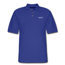 Load image into Gallery viewer, Men's Pique Polo Shirt - RocketSurf Logo - royal blue