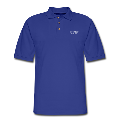 Men's Pique Polo Shirt - RocketSurf Logo - royal blue
