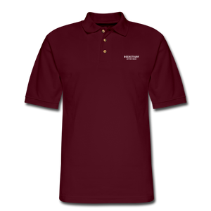 Men's Pique Polo Shirt - RocketSurf Logo - burgundy