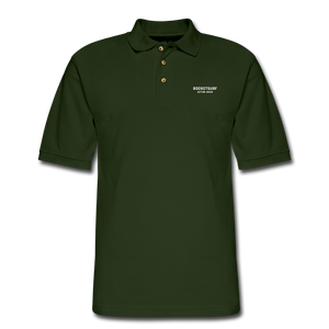 Men's Pique Polo Shirt - RocketSurf Logo - forest green