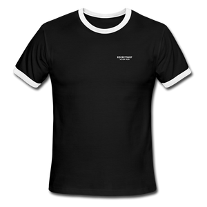 Men's Ringer T-Shirt - RocketSurf Logo - black/white