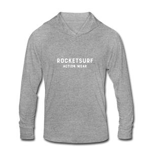 Unisex Tri-Blend Hoodie Shirt - RocketSurf Logo - heather gray