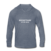 Load image into Gallery viewer, Unisex Tri-Blend Hoodie Shirt - RocketSurf Logo - heather blue