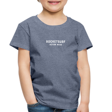 Load image into Gallery viewer, Toddler Premium T-Shirt - RocketSurf Logo - heather blue