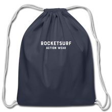 Load image into Gallery viewer, Cotton Drawstring Bag - RocketSurf Logo - navy