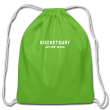 Load image into Gallery viewer, Cotton Drawstring Bag - RocketSurf Logo - clover