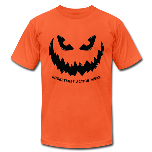 Horror Pumpkin - Unisex Jersey T-Shirt by Bella + Canvas - orange