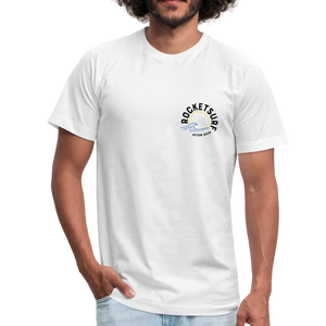 Unisex 2-Sided Design T-Shirt -  Life's A Beach - white