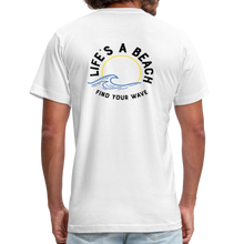 Load image into Gallery viewer, Unisex 2-Sided Design T-Shirt -  Life's A Beach - white