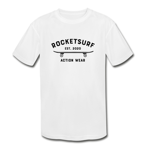 Kids' Moisture Wicking T-Shirt - Black Skate Club - white