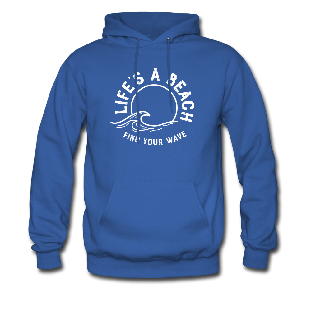 Life's A Beach Find Your Wave - Men's Hoodie - royal blue