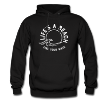 Load image into Gallery viewer, Life's A Beach Find Your Wave - Men's Hoodie - black