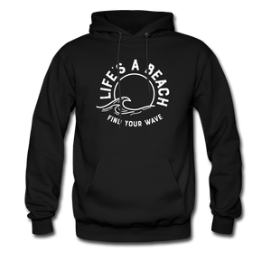 Life's A Beach Find Your Wave - Men's Hoodie - black