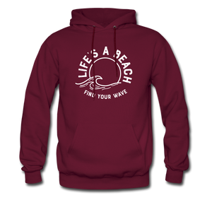Life's A Beach Find Your Wave - Men's Hoodie - burgundy