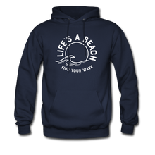 Load image into Gallery viewer, Life's A Beach Find Your Wave - Men's Hoodie - navy